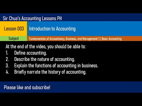 Lesson 003 - Introduction to Accounting