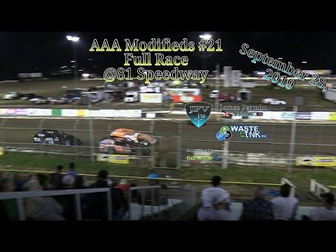 AAA Modifieds #21, Full Race, 81 Speedway, 09/28/19