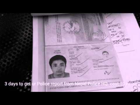 How to Make Police report in Nepal
