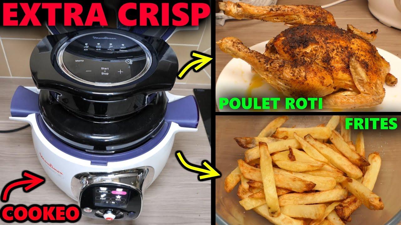 Download Moulinex Extra Crisp Couvercle COOKEO devient une friteuse à air chaud ! frites maison, poulet roti