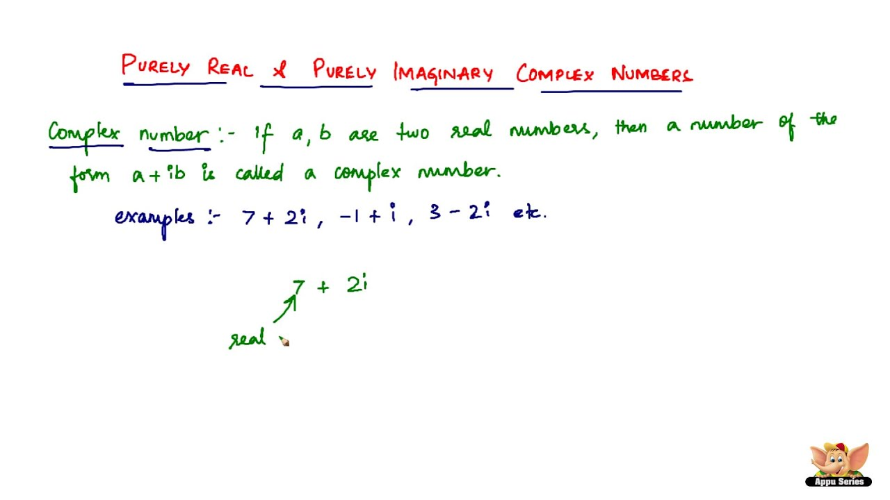 complex and imaginary numbers