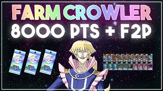 How to Farm Crowler Lvl 40 // 8000 POINTS + F2P (GATE) [Yu-Gi-Oh! Duel Links]