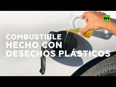 La máquina que convierte el plástico en combustible diésel