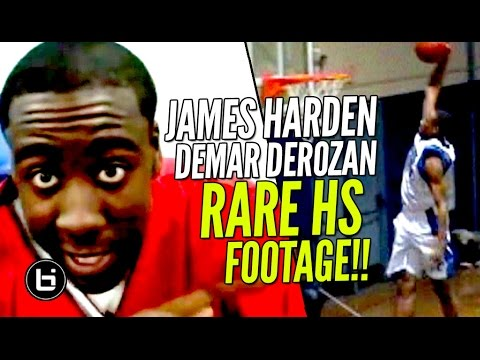 RARE James Harden BEFORE The Beard + DeMar DeRozan DOMINATING In High School! Ballislife Throwback!