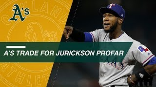 A's acquire Profar from the Rangers in a 3-team deal