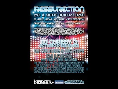 Dj Chrissy-G Mc Impulse B2B Banks @ Ressurection 22.03.2013