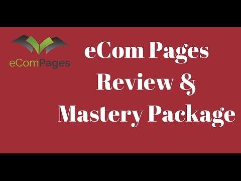 eCom Pages Review - Unique Mastery Bonus package