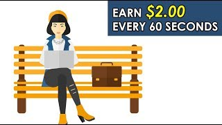 Earn $2 Every 60 Seconds (Click & Earn) (Easy Way To Make Money Online)