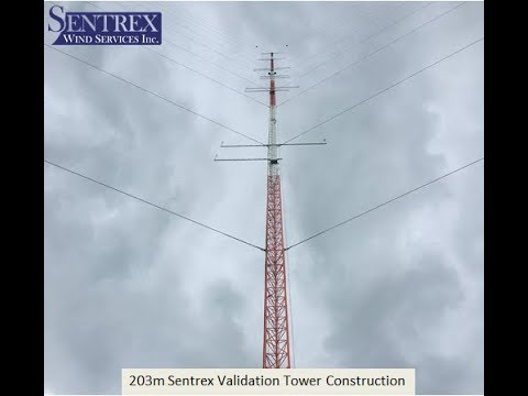 Sentrex 203m Validation Tower during construction drone video