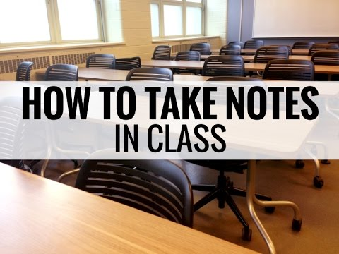 Download How to Take Notes: In Class