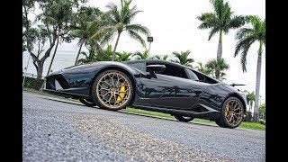 Lamborghini Huracan Perfomante ANGRY BULL RIDE Accelerations Downshifts at Lamborghini Miami