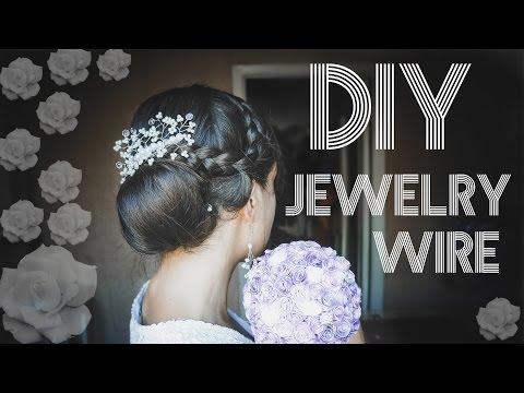 Украшение для волос / Гребень из проволоки / DIY JEWELRY WIRE