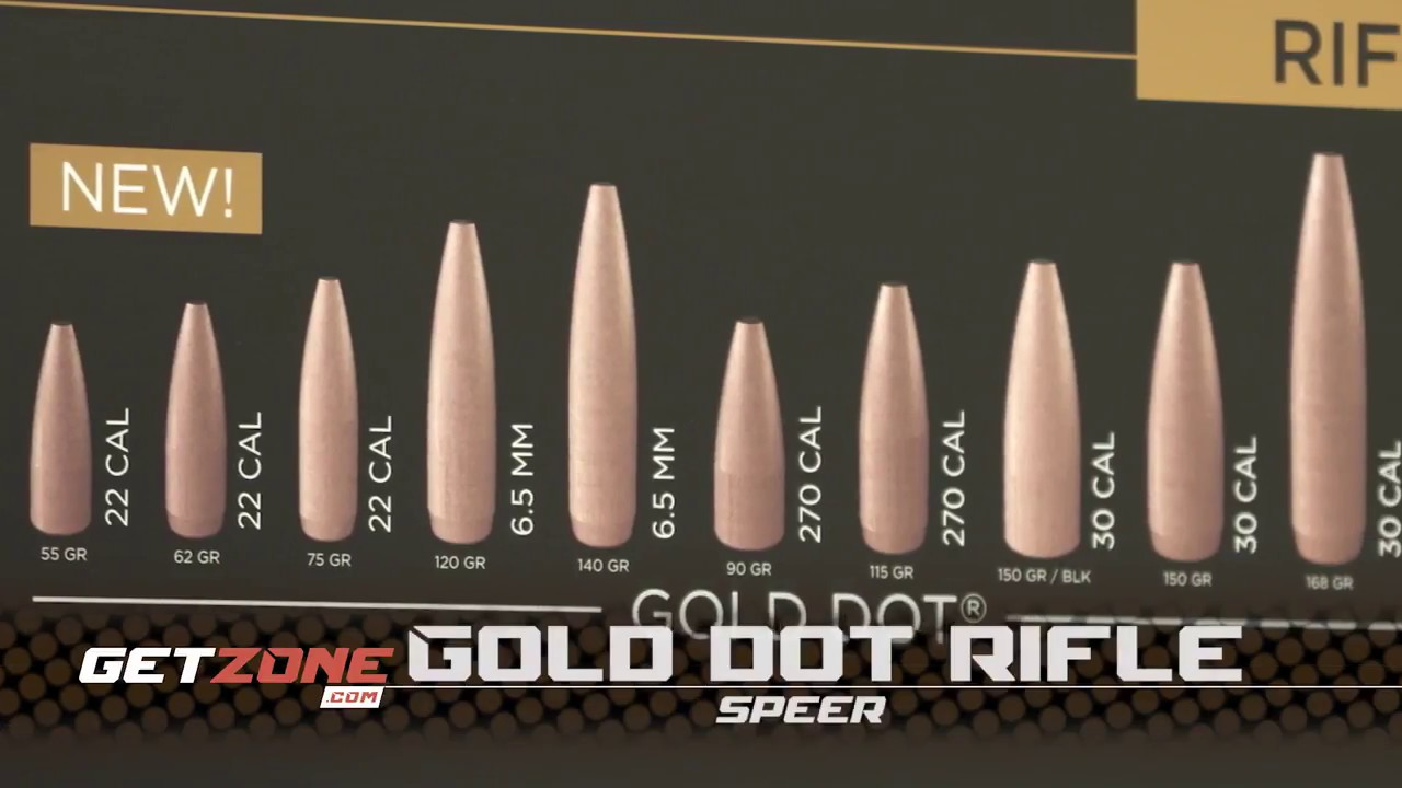 2018 New Gear and Guns: New Gold Dot Rifle Ammo from Speer!