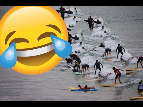 Oh my god ! The most crowded surf spot in the world ( Biarritz )