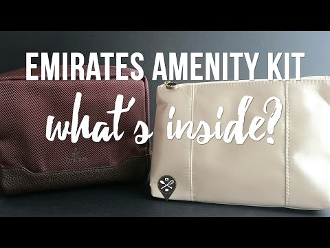 What's inside Emirates Business Class amenity kits? For men vs for women 👝