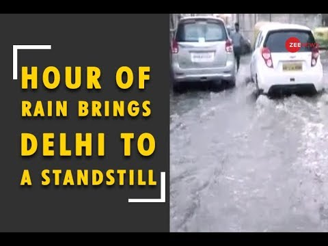 DNA: How an hour of rain brought Delhi to a standstill