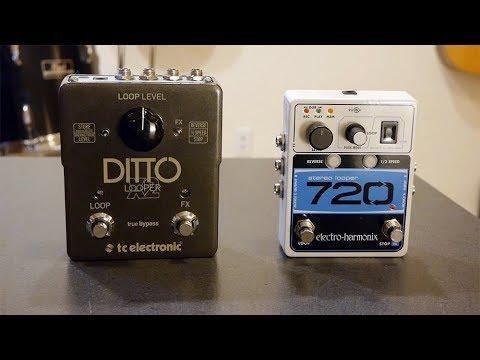 TC Electronics Ditto X2 vs EHX 720 stereo looper