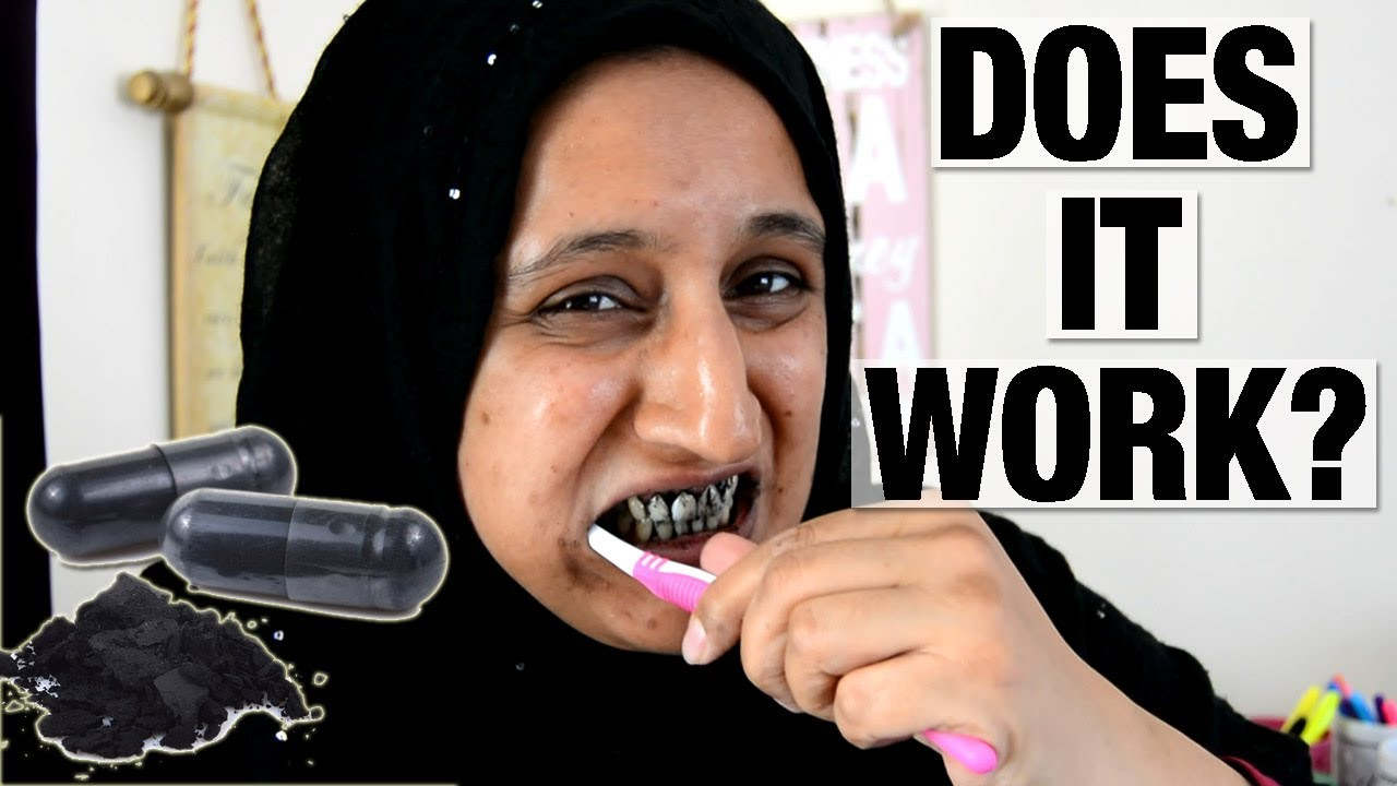 Activated Charcoal To Whiten Teeth Does It Work Shamsa Youtube