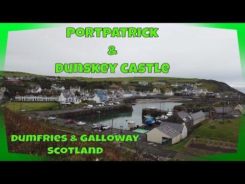 PORTPATRICK & DUNSKEY CASTLE - Dumfries & Galloway SCOTLAND - Sept 2020