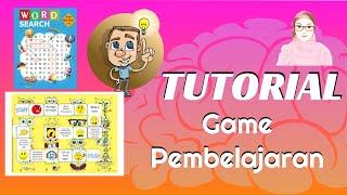 CARA MEMBUAT GAME PEMBELAJARAN ONLINE || WORD SEARCH DAN BOARD GAME screenshot 3
