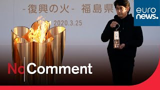Olympic flame on display in Japan despite postponement of Tokyo 2020