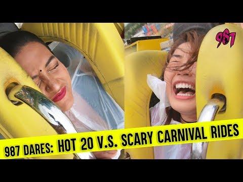 #987Dares  HOT 20 VS Scary Carnival Rides