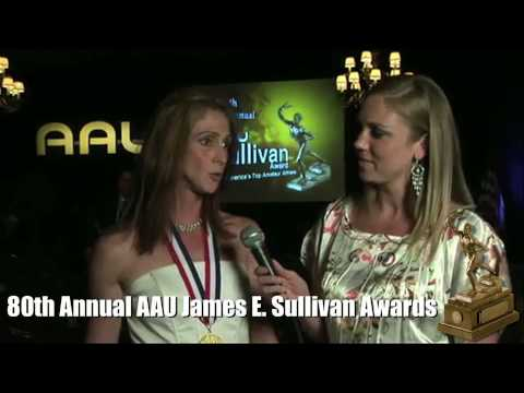 Anastasia reporting from the 80th Annual AAU Sullivan Awards