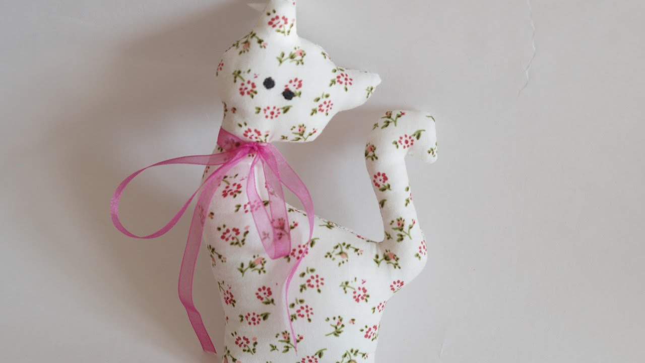 How To Make a Pretty Fabric Toy Cat  DIY Crafts Tutorial
