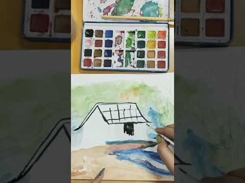 Water color painting #watercolor #art #artist #watercolorpainting