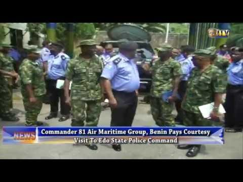 Commander 81 Air Maritime Group visits Edo State Police Command