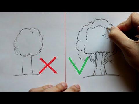 Как рисовать тополь