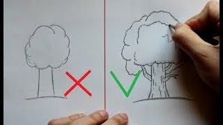 Как нарисовать Дерево (Ehedov Elnur) How To Draw A Tree