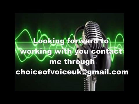 make your service perfect with the addition of my vocal talent