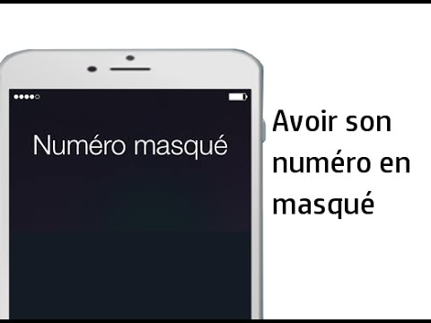 nouveau sommet valeur formidable sur des pieds à Mettre son numéro en masqué sur iPhone