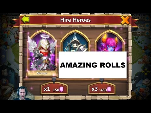 Rolling 130,000 Gems TIll We Get TWO Michaels & Skull Knights Castle Clash