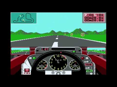Grand Prix Circuit (PC, DOS, 1988): Trying to beat DOS Game Club Times