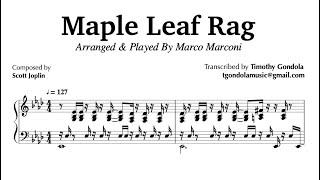 Maple Leaf Rag- Arranged by Marco Marconi (Piano Transcription)