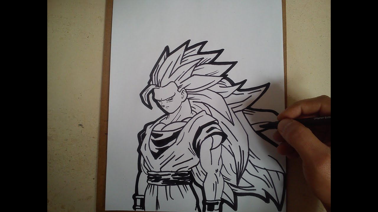 Como Dibujar A Goku Ssj 3 How To Draw Goku Ssj 3