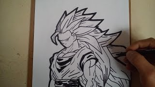 COMO DIBUJAR A GOKU SSJ 3 / HOW TO DRAW GOKU SSJ 3