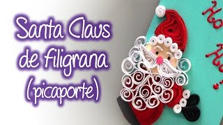 Santa Claus de Filigrana , Quilling Santa Claus