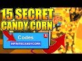 15 SECRET CANDY CORN CODES IN ROBLOX MINING SIMULATOR!