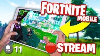 Fortnite Mobile NOOB to PRO Challenge STREAM // 30+ WINS // 4 Finger Claw HANDCAM