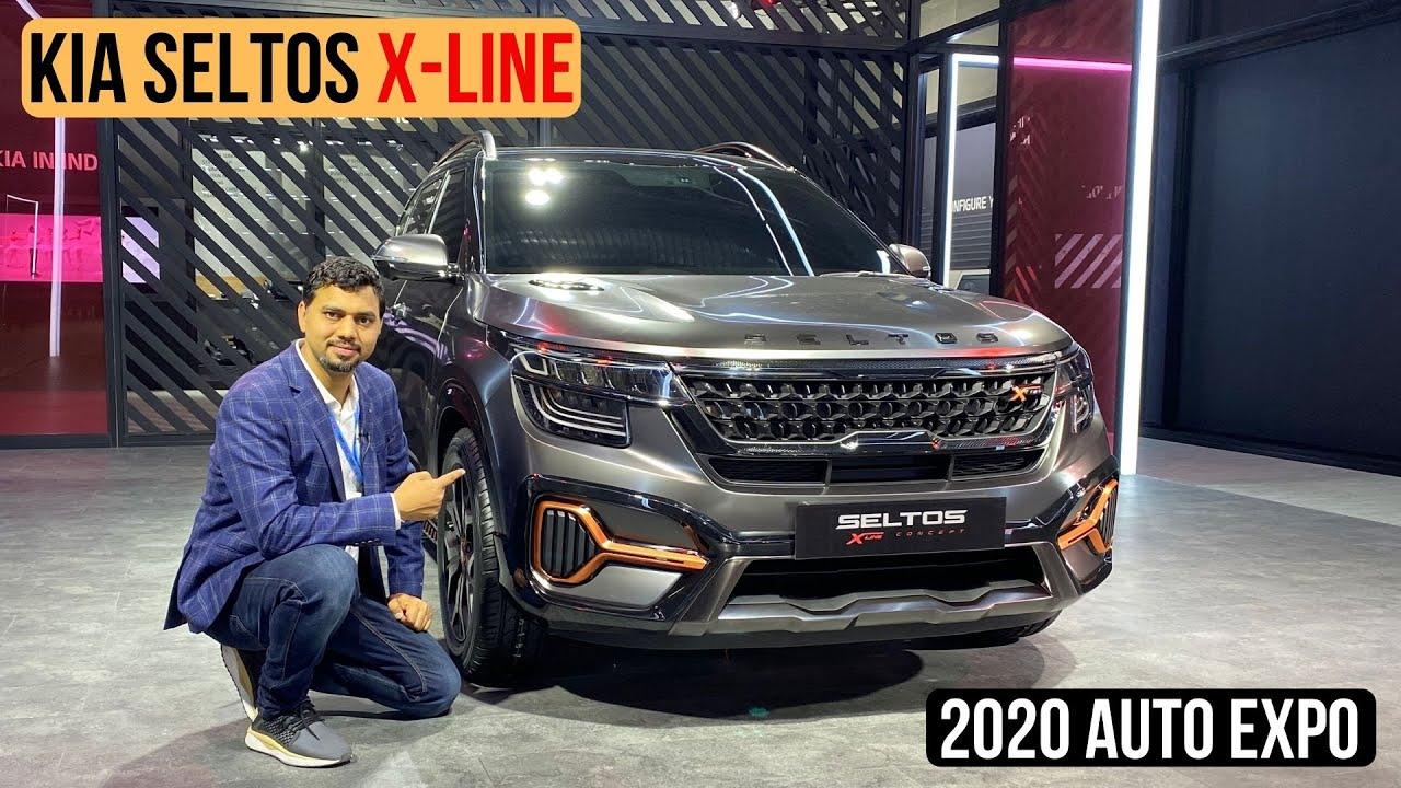 Kia Seltos X Line Concept At 2020 Auto Expo Quick Walakround Youtube