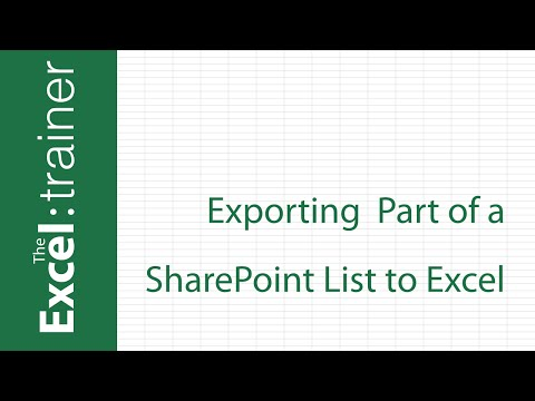 Exporting Part of a SharePoint List to Excel - YouTube