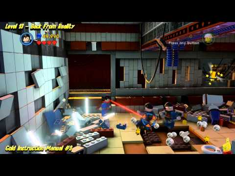The Lego Movie Videogame: Level 13 Back From Reality - FREE PLAY - (Pants & Gold Manuals) - HTG