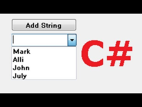 C# Tutorial 9:  How to Use a Combo box