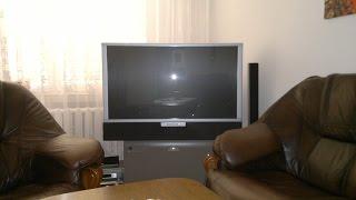 thomson rear projection tv service - cleaning inside -czyszczenie starego Tv