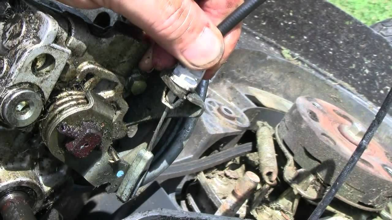 SOLVED: Drive wheels lock up when pull mower back - Fixya
