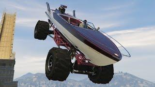 FLIPANTE!! MONSTER TRUCK BARCO!! - GTA V PC MODS