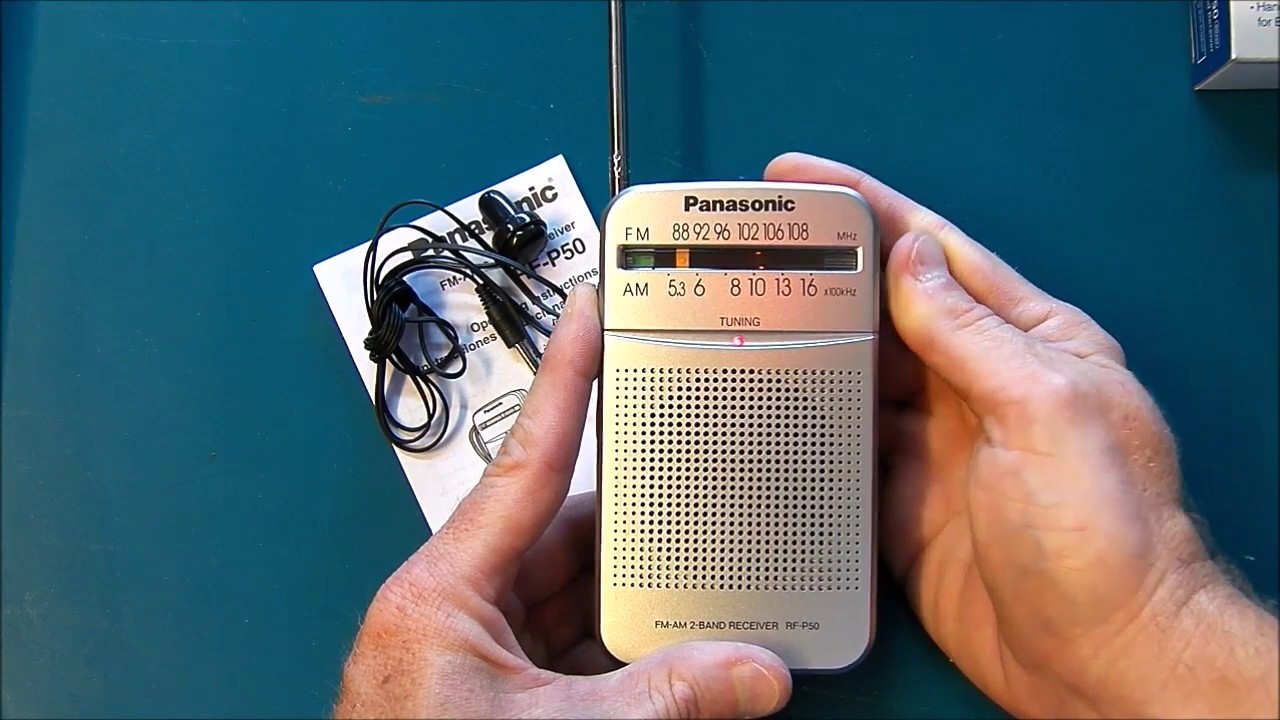 Panasonic Rf-p50 Fm Am Pocket Portable Transistor Radio Product Review
